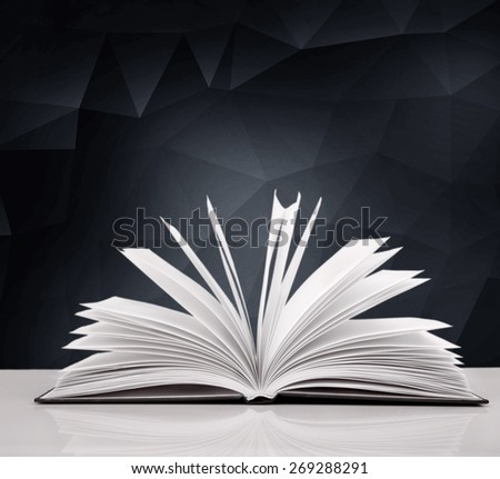 Legal. Open book on white background - stock photo