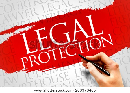 Legal Protection word cloud concept - stock photo