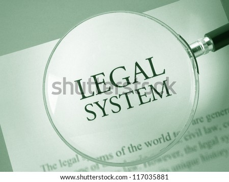 Legal system definition - stock photo