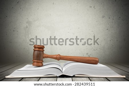 Legal System, Law, Gavel. - stock photo