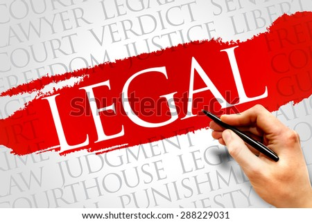 Legal word cloud concept - stock photo