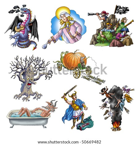 Legends and fairy tales_2 - stock photo