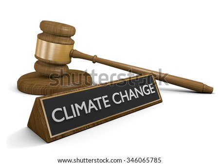 Legislation and deals to protect the environment from climate change - stock photo