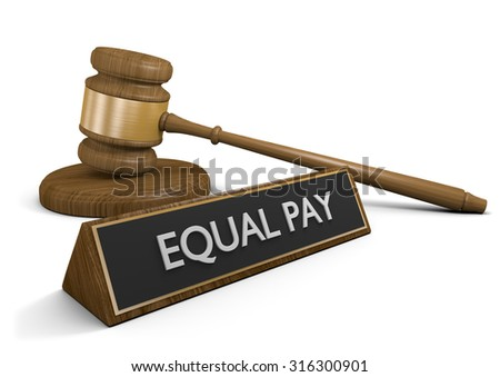 Legislation for equal pay regardless of gender or race - stock photo