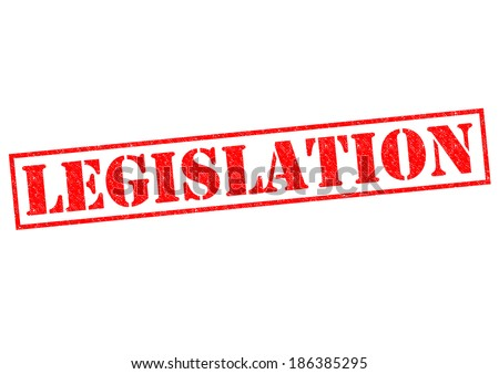 LEGISLATION red Rubber Stamp over a white background. - stock photo