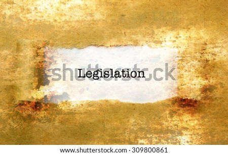 Legislation text no wall - stock photo