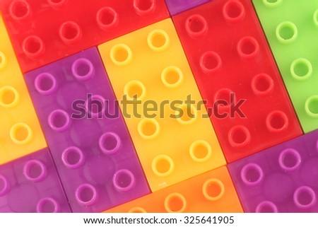 Lego background - stock photo