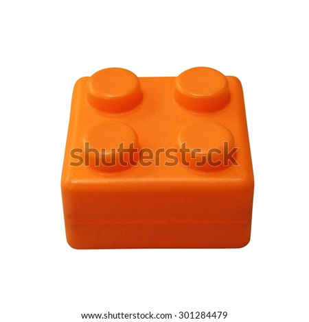 Lego isolated on white background  - stock photo