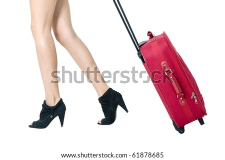 Legs and bag - stock photo