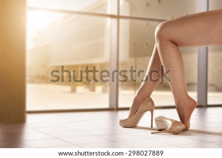 legs and heels  - stock photo