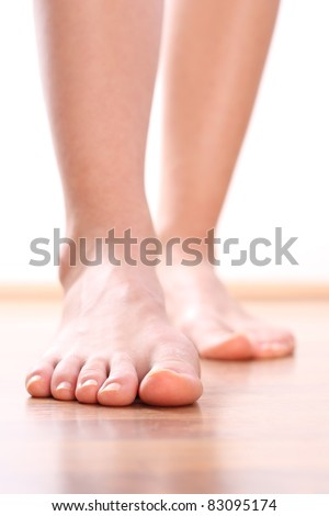 Legs Foot stepping - stock photo