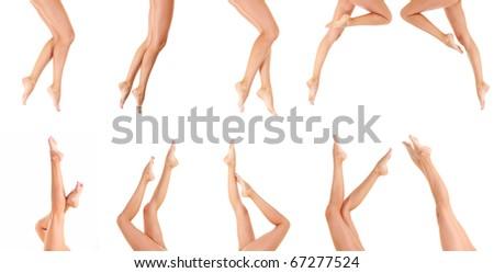 Legs Nude Isolated - stock photo