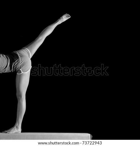 legs of a female gymnast - stock photo