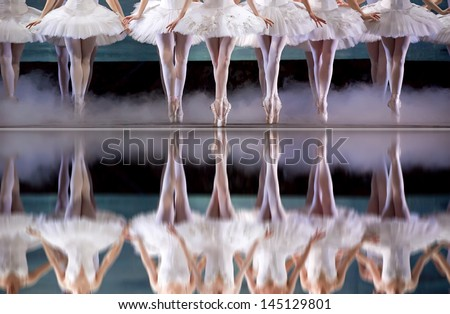 legs of ballerina - stock photo