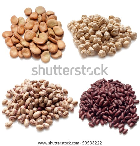 legumes collection - stock photo