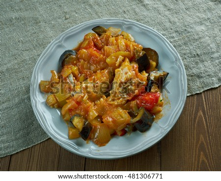 Legumes melanges - Mixed vegetables with chicken