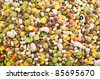 legumes mix close up texture - stock photo