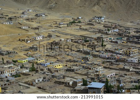 Leh, the capital of Ladakh, Northern India