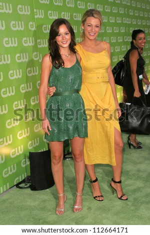 Leighton Meester and Blake Lively at the CW Summer 2007 TCA Press Tour. Pacific Design Center, Los Angeles, CA. 07-20-07