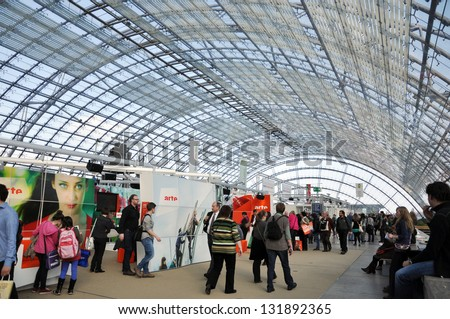 LEIPZIG, GERMANY - MARCH 14: Public day for Leipzig book fair on March 14, 2013 in Leipzig, Germany. Leipzig Book Fair is the most important spring meeting place for the publishing and media sector.