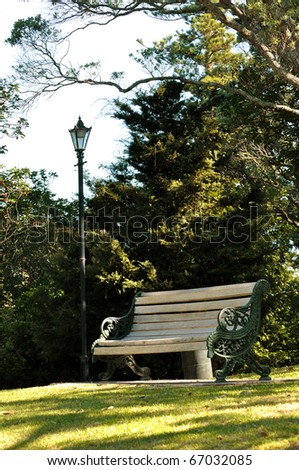 Leisure bench - stock photo