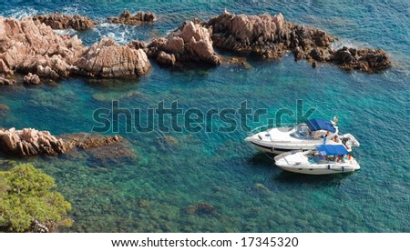 Leisure Boats in the Sea - stock photo