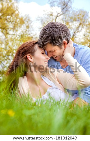 leisure couple relaxing man with wife - stock photo