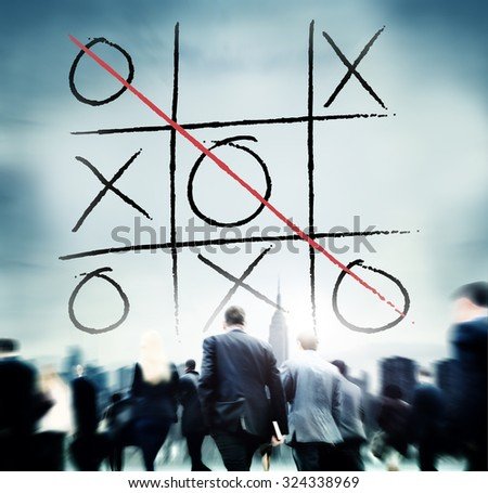 Leisure Game Tic Tac Toe Competition Challenge Winner Concept - stock photo