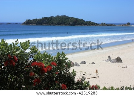 Leisure Island, Mount Maunganui, New Zealand - stock photo