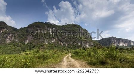 Lembah Harau, West Sumatra, Indonesia - stock photo