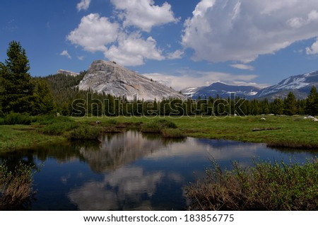 Lembert Dome reflection, Tuolumne Meadows, Yosemite National Park