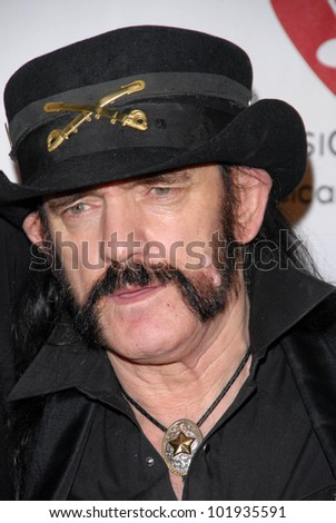Lemmy Kilmister at the 6th Annual Musicares MAP Fund Bevefit Concert celebrating women in  recovery, Club Nokia, Los Angeles, CA. 05-07-10