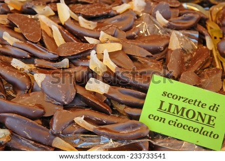 Lemon and chocolate. - stock photo