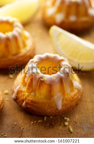 Lemon bundt cakes - stock photo