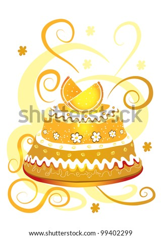 Lemon cake - stock photo