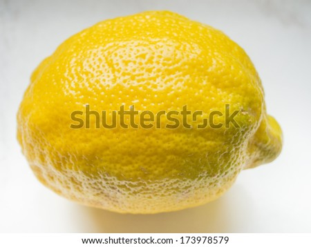 Lemon (Citrus Ã?Â?? limon) is a small evergreen tree native to Asia, and the tree's ellipsoidal yellow fruit. - stock photo