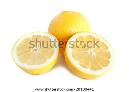 Lemon citrus on white background