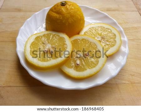 Lemon Close-View - stock photo