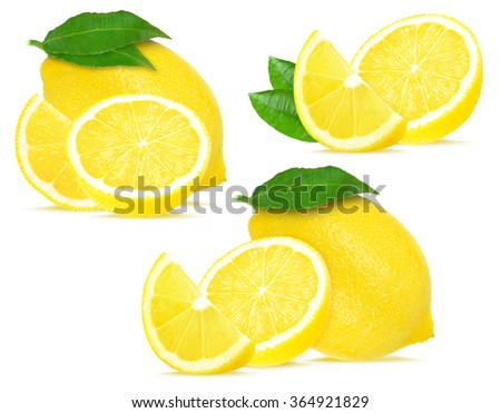 lemon collection isolated on a white background