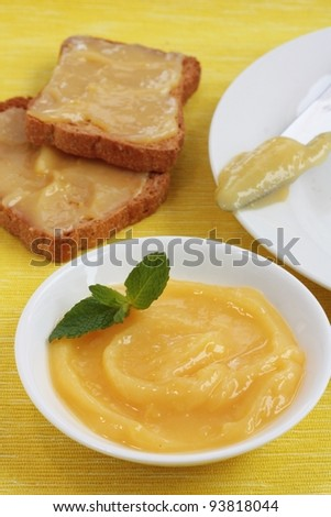Lemon curd or pie filling - stock photo