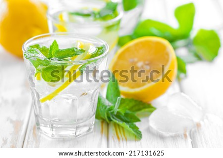Lemon drink - stock photo