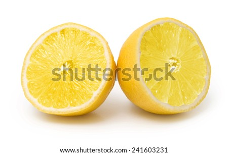 lemon fruit isolated on white - stock photo