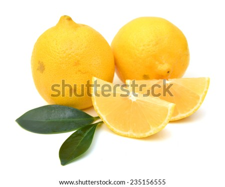 lemon isolated  - stock photo
