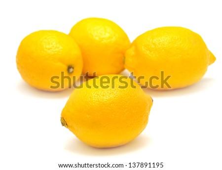 Lemon isolated on white background - stock photo