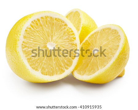 Lemon isolated on white background - stock photo