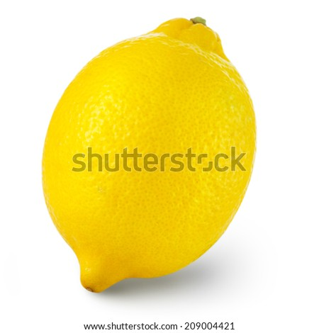 lemon isolated on white background. Clipping Path  - stock photo