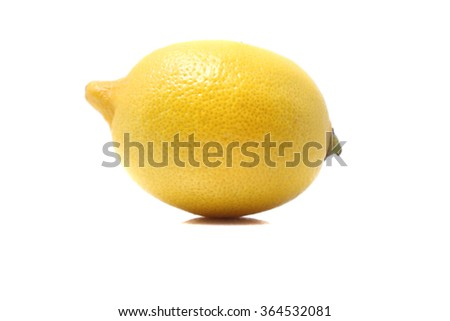 Lemon isolated on white background. With clipping path - stock photo