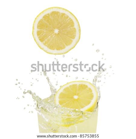 Lemonade splash stock images royalty free images for Lemon shaped lemonade stand