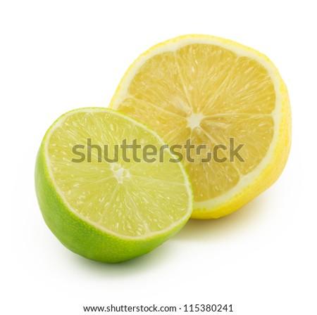 lemon, lime - stock photo