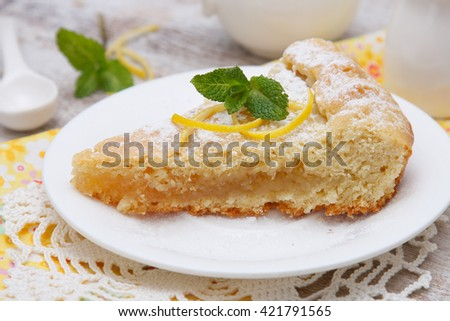 Lemon pie - stock photo